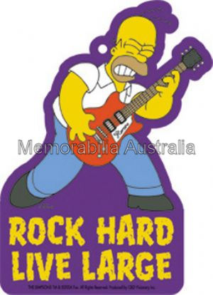 Homer Rock Hard Live Large Sticker