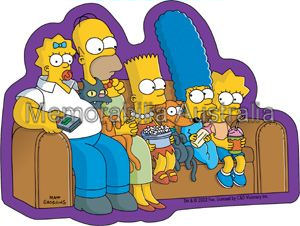 Simpsons Couch Sticker