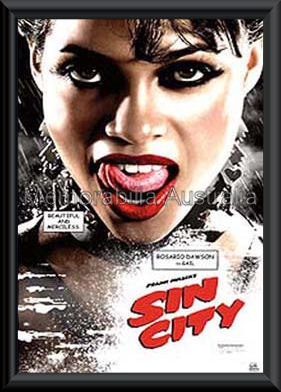Sin City Poster Framed