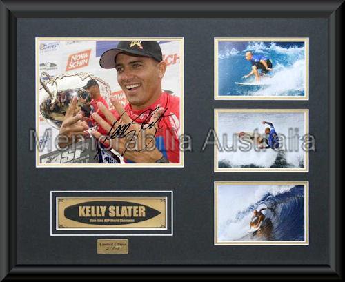 Kelly Slater LE Montage Mat Framed