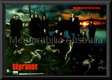Sopranos Poster Framed