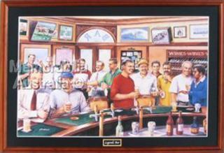 Legends Bar Framed Poster