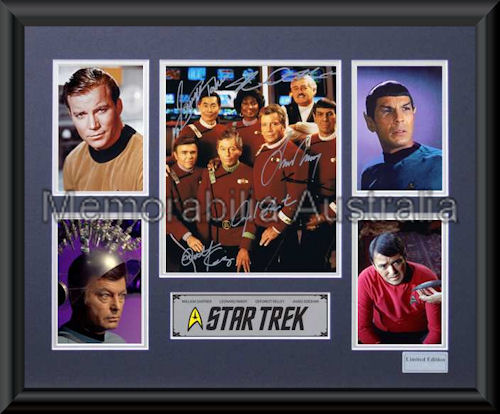 Star Trek LE Photo Montage Framed