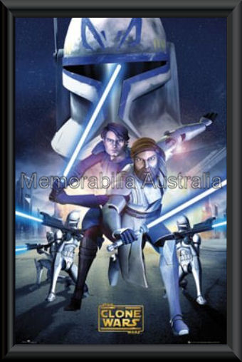 Star Wars The Clone Wars Poster Framed
