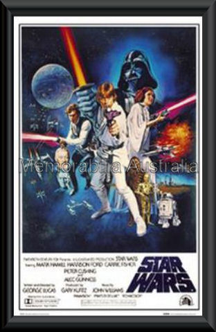 star wars poster framed star wars movie memorabilia
