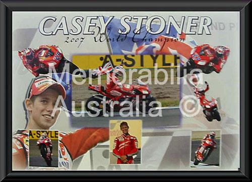 Casey Stoner Framed 2007 MotoGP Montage