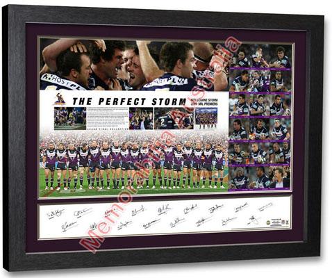 2007 Melbourne Storm Premiers Team Lithograph