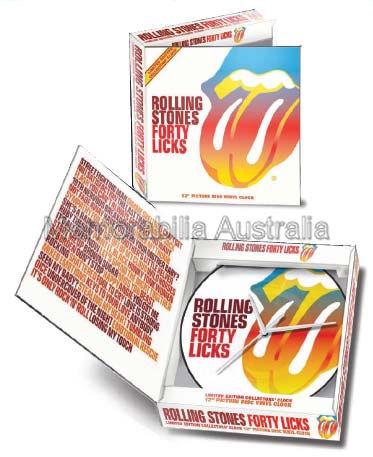 """Rolling Stones 12"""" LP Clock"""