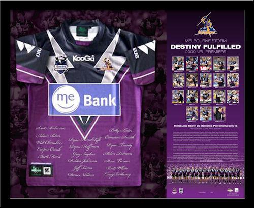 2009 Melbourne Storm NRL Premiership Jersey