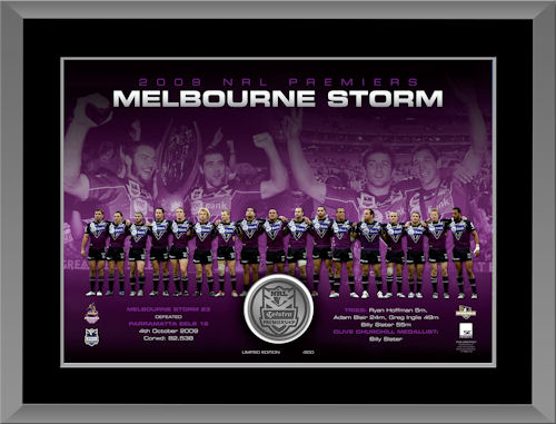 2009 Melbourne Storm NRL Premiership Medallion Print