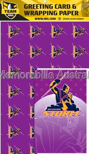 Melbourne Storm Card and Wrap Pack