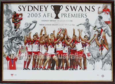 2005 Sydney Swans Premiership lithograph Unframed