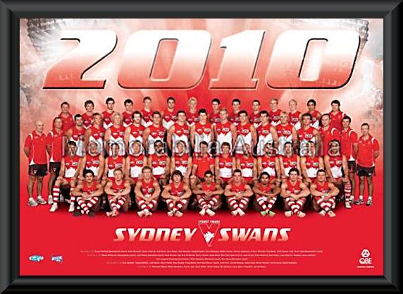 Sydney Swans 2010 AFL Team Frame