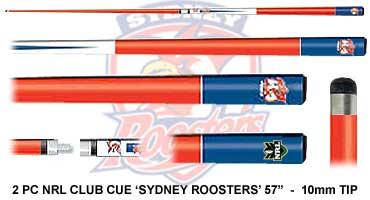 Sydney Roosters Pool Cue Sydney Roosters Nrl Rugby