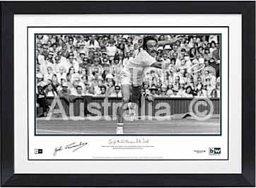John Newcombe Framed Lithograph
