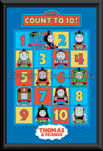 Thomas The Tank Count Poster Framed