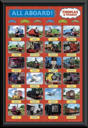 Thomas The Tank Engine Red Collage Framed