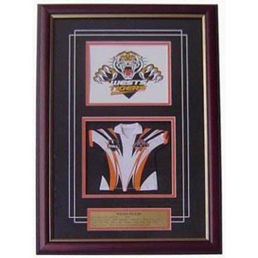West Tigers Framed Logo Mini Jersey