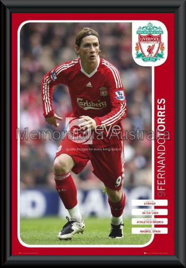 Fernando Torres Liverpool Poster Framed