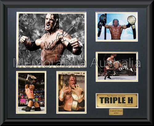 Triple H LE Photo Montage Framed