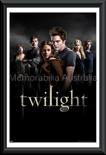 Twilight Characters Poster Framed