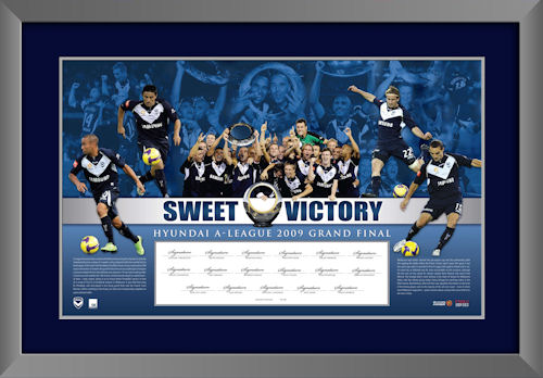 Melbourne Victory 2009 Champions Signed Lithograph