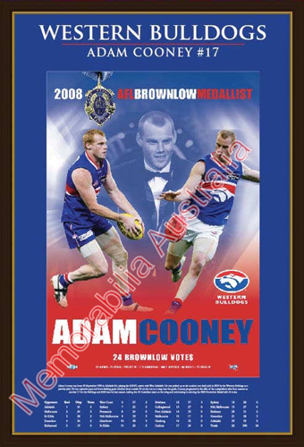 Adam Cooney Brownlow Medallist Matted Print with Stats