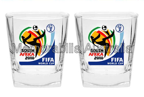 World Cup 2010 Set Of 2 Spirit Glasses