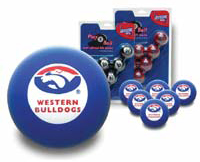 Western Bulldogs Pool Ball Set