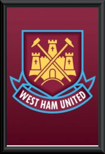 West Ham Crest Poster Framed