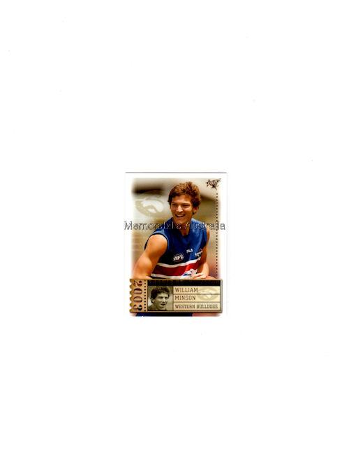 William Minson AFL 2003 Rookie
