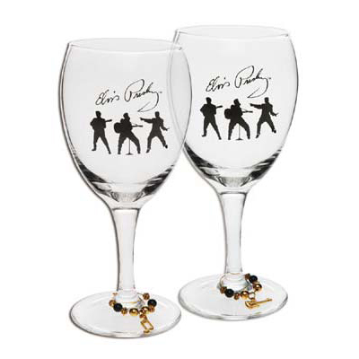 Elvis Wine Glasses