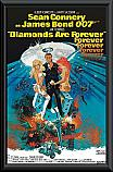James Bond Diamonds are Forever framed poster