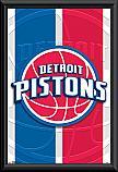 Detroit Pistons framed poster