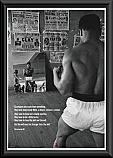 Muhammed Ali mirror poster framed