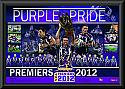 "Melbourne Storm 2012 premiership ""Purple Pride"" print framed"