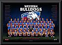 Western Bulldogs 2017 Team Poster Framed