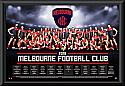 Melboune Demons 2016 Team Poster Framed