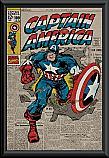 Captain America retro framed poster