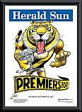 Richmond Tigers 2017 Premiership Framed Mark Knight poster
