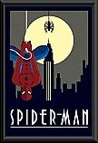 Spiderman deco poster framed