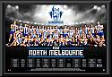 North Melboune Kangaroos 2016 Team Poster Framed