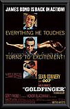 James Bond Goldfinger poster framed