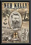 Ned Kelly Collage framed