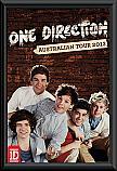One Direction 2013 Australian Tour poster framed