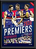 2016 Western Bulldogs Framed Premiership montage print