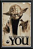 Star Wars Classic May The Force Be With You Poster Framed