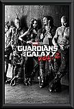 Guardians of the Galaxy 2 Black & White poster framed