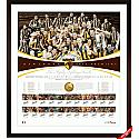 2013 AFL PREMIERSHIP FRAMED HAWTHORN TEAM SIGNED LITHOGRAPH