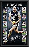Carlton Blues Chris Judd signed vertiramic